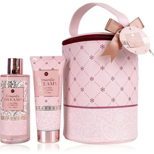 Romantic dreams Romantisch badset in make-up tas - Romantic dreams - Tea rose & Velvet
