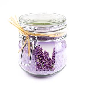 Bath & Body 950 gram Badzout - Glas weckpot - Lavendel - Aromatherapie - met schep