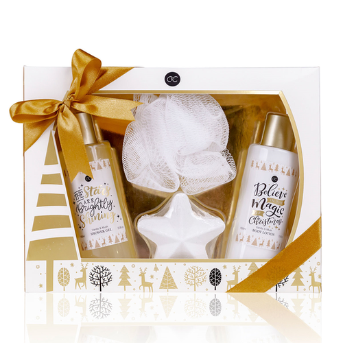 Winter Magic Verwenpakket vrouw in winter sfeer geschenkverpakking met strik - Vanilla & Musk - cadeau voor moeder