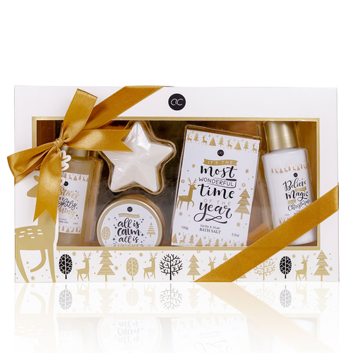 Winter Magic Kado vrouwen in winter sfeer geschenkverpakking met strik - Cadeau voor vriendin - Vanilla & Musk