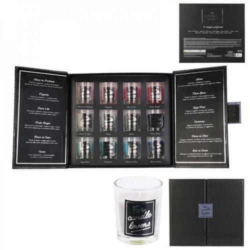 DITES LE AVEC DES MOTS Heerlijke 12-delige geurkaarsen cadeau set in een mooie geschenkdoos - For Candle Lovers