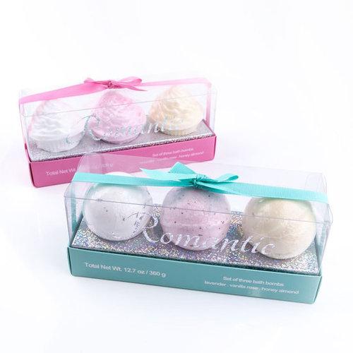AC Badbruisbal Romantic in cupcake- en balvorm 3 geuren in geschenkverpakking