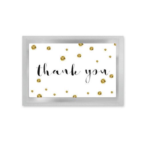 D&B Ansichtkaart 'Thank You' gevuld met thee
