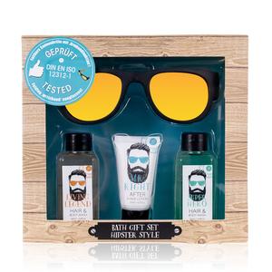 Hipster Style HIPSTER STYLE - After shave, Hair & Body wash en een Leuke (vouwbare) Zonnebril