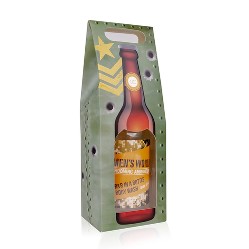 Men's World MEN'S WORLD - Bad- en douchegel Oak & Amber in bierfles look geschenkverpakking - 360 ML