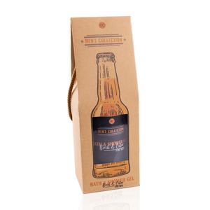 Men's World MEN'S WORLD - Bad- en douchegel Birch & Cedar in bierfles look geschenkverpakking - 360 ML
