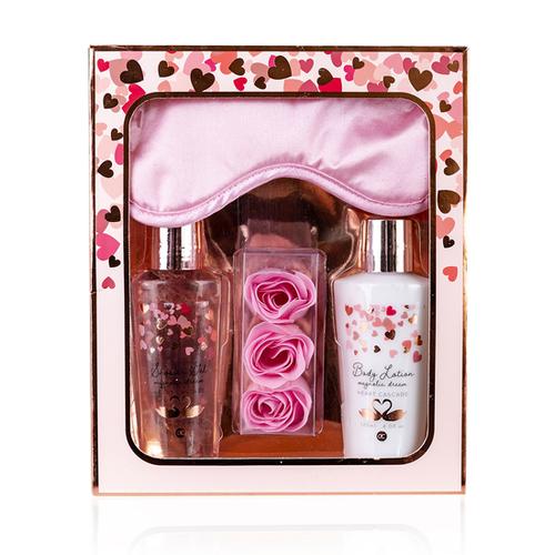 Heart Cascade Bad cadeaupakket Heart Cascade - Magnolia dream - Rosé/ roze/ wit - Cadeaupakket geliefde