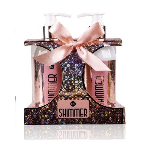 Shimmer Vrouwen verzorging set - Shimmer Rosé - Midnight Fig & Pomegranate - Bad cadeaupakket