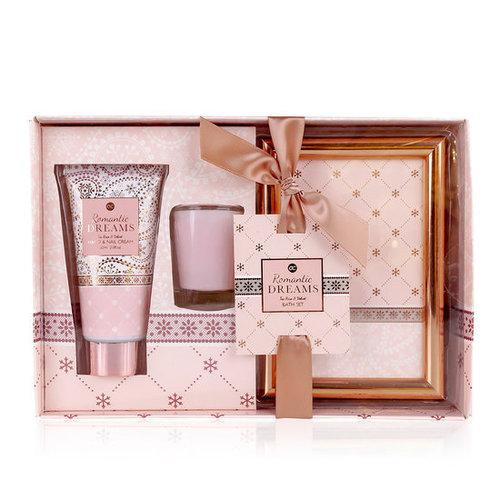 Romantic dreams Romantische hand/nagel set + fotolijst - Rosé Goud - Romantic dreams - Tea rose & Velvet