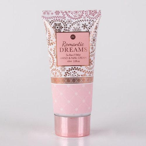 Romantic dreams Romantische hand/nagel set + fotolijst 9 x 12cm - Rosé Goud - Romantic dreams - Tea rose & Velvet