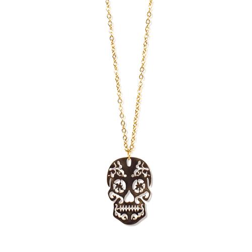 Skull Chic Stoer cadeau vrouwen - Cadeaupakket met gouden schedel ketting - Skull Chic - White Musk