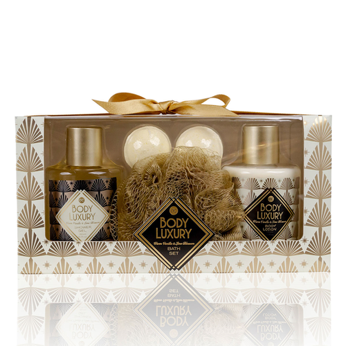 Body Luxury Body Luxury - Warm Vanilla & Lime Blossom - Badset