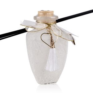 AC Geurstokjes Romantic Dreams - 240 ml - Huisparfum - Apple/ Cinnamon - Witte Glazen fles