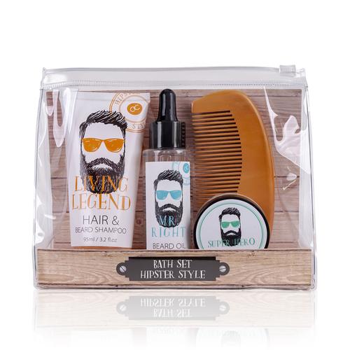 Hipster Style Baard verzorging set Oak & Citrus - HIPSTER STYLE - Cadeau voor mannen met een baard