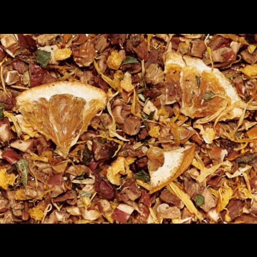 By Maroo Losse thee in glazen pot - Fruit thee blend Orange Dream - Appel, Sinaasappel & Aardbei - Voor Theeliefhebbers - 100 gram
