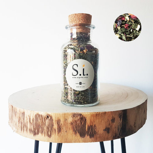 By Maroo Losse thee in glazen pot - Kruiden thee blend Mint Variety met Citroengras - By Maroo