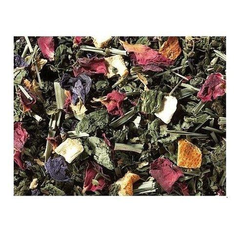 By Maroo Losse thee in glazen pot - Kruiden thee blend Mint Variety met Citroengras - Voor Theeliefhebbers - 60 gram