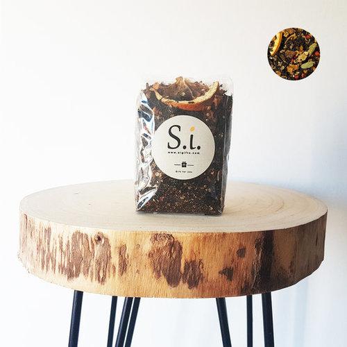 By Maroo Losse thee in zak - Zwarte Thee Blend Sinaasappel & Cookies - Voor Theeliefhebbers - By Maroo