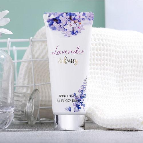Body & Earth Geschenkset in witte badkuip - Lavendel & Honing - Bad cadeau