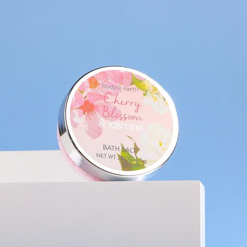 Body & Earth Geschenkset in roze badkuip - Cherry Blossom & Jasmine - Cadeau voor vrouwen