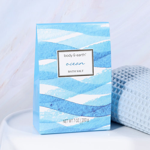 Body & Earth Geschenkset in blauwe badkuip - Ocean - Cadeau dames