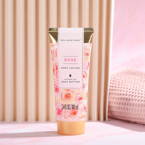 Spa Luxetique Geschenkset in zilveren badkuip - Rose Beauty & Shea butter - Bad cadeau