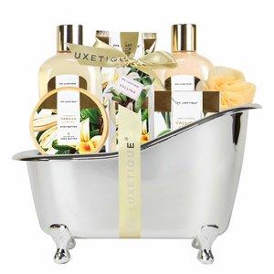 Spa Luxetique Cadeaupakket in zilveren badkuip - Vanilla & Shea butter