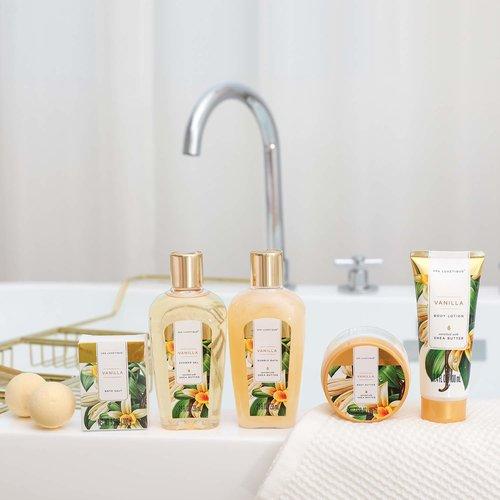 Spa Luxetique Cadeaupakket in zilveren badkuip - Vanilla & Shea butter - geschenkpakket