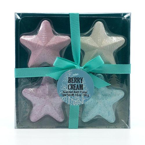 AC Badbruisbal geschenkset STER 4 stuks – Berry Cream in geschenkverpakking