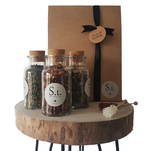 By Maroo Thee cadeau set - Fruit thee, Herb Mint & Sweet Almond - By Maroo