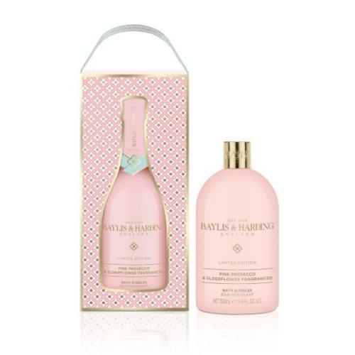 Baylis & Harding 500ml Bad bubbels - Pink Prosecco & Elderflower - Champagnefles look