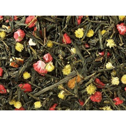 By Maroo Losse thee in glas - Groene Thee Blend Sencha Spring Melody Aardbei / Sinaasappel