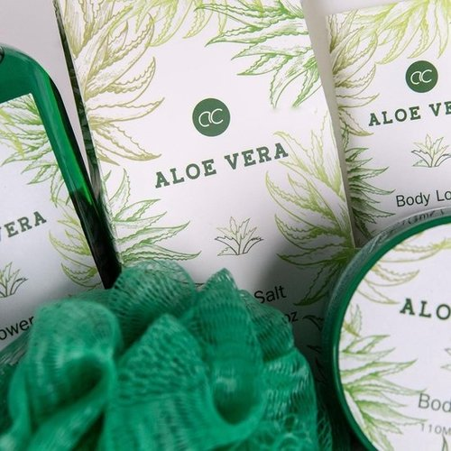 AC Spa verzorging set voor thuis - zeegras mand -  Aloe Vera