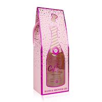 Grappig Champagne bad cadeau - Let's Celebrate - Roze Shimmer