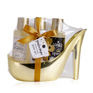 Winter Magic Bad cadeau in gouden pump - Shine - Vanilla en Musk
