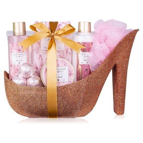 A moment for you Badset in glitter pump Rose - Beautiful shine - Golden Jasmijn