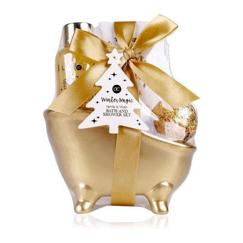 Winter Magic Bad cadeau in badkuipje - Winter Magic Gold - Vanilla & Musk