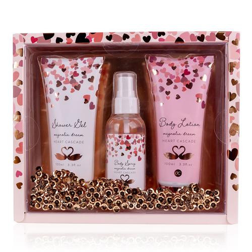 Heart Cascade Body pakket dames - Magnolia dream - Rosé/roze/wit