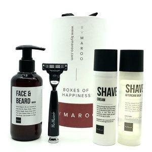 Mr Maroosh Luxe scheerset mannen - Shave ETQ - Sandalwood