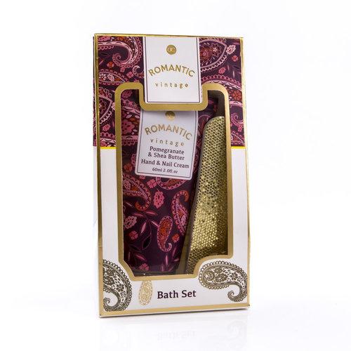 Romantic Vintage Handverzorging cadeau set - Romantic Vintage - Pomegranate & SheaButter