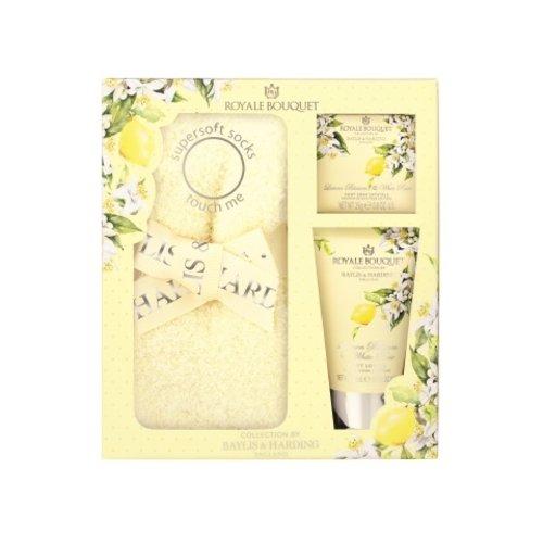 Baylis & Harding Voetverzorgingsset dames - Royale Bouquet - Lemon Blossom & White Rose