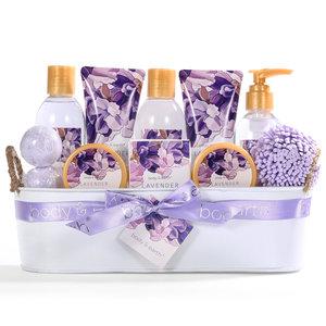 Body & Earth Grote cadeaumand verzorging - Lavendel Genot