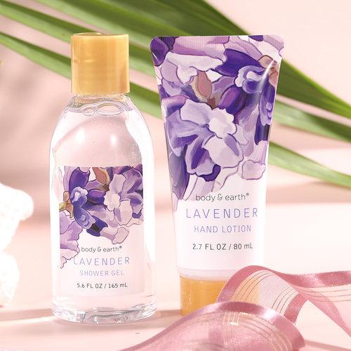 Body & Earth Grote cadeaumand verzorging - Lavendel Genot - Cadeaupakket dames