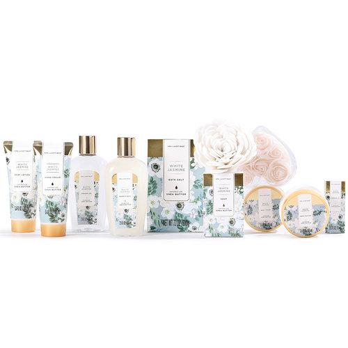 Spa Luxetique Grote bad cadeaumand verzorging - White Jasmine - Cadeauset vrouwen