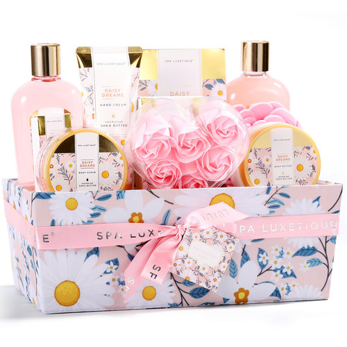 Spa Luxetique Grote bad cadeaumand verzorging - Daisy Dreams - Geschenkset vrouwen