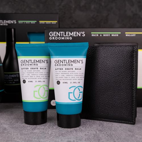 Gentlemen's Grooming Stoer cadeaupakket mannen - Gentlemen's Grooming - Cool Mint & Lime - incl portemonnee