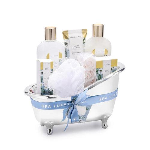 Spa Luxetique Wellness pakket in grote badkuip - White Jasmine - Heerlijk geschenkpakket