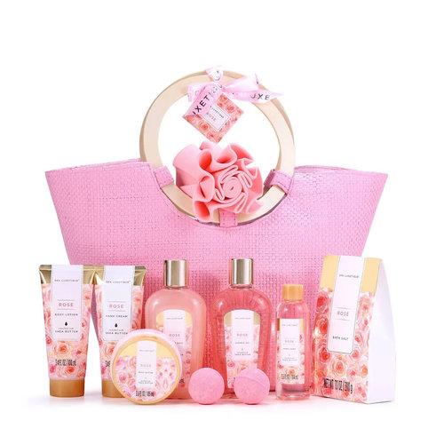 Spa Luxetique Cadeaumand en Tas XL vrouwen - Rose Wellness