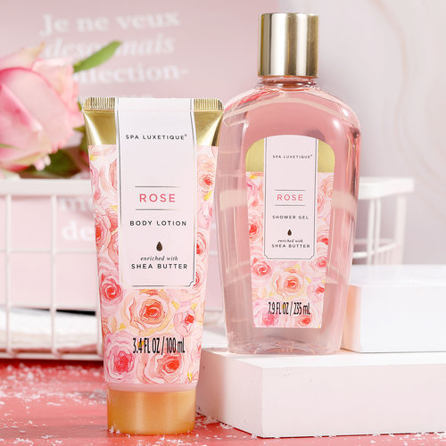 Spa Luxetique Cadeaumand en Tas XL vrouwen - Rose Wellness - Bad & Lichaam
