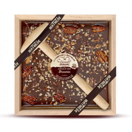 Comptoir de Mathilde Chocolade cadeau met Hamer - Pure Chocolade, Walnoten en Pecannoten